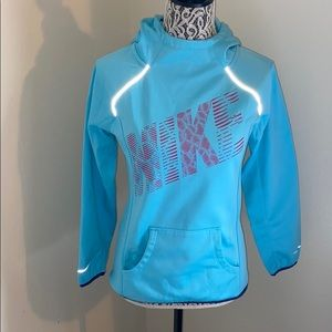 Nike Light Blue Hooded Sweatshirt